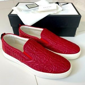 Gucci GG red slip on sneaker